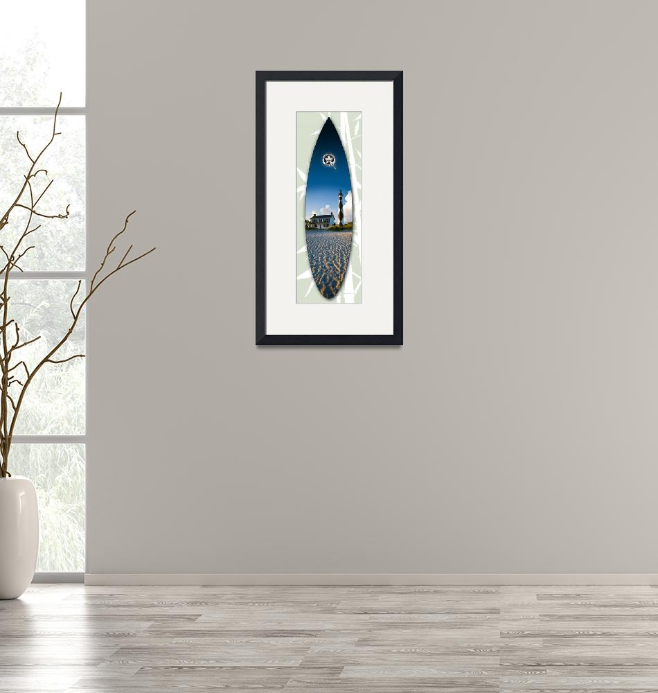 """Cape Lookout Surfboard""  by bradstyron"