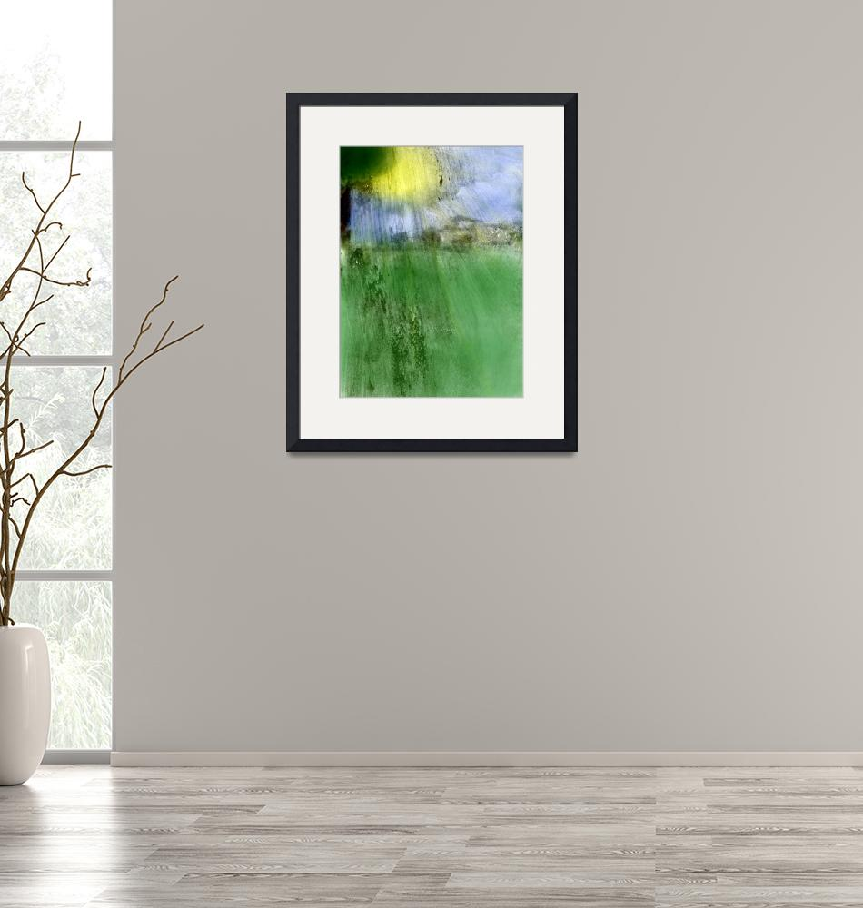 """""""sunshine and village photographic painting""""  (2014) by jnanian"""