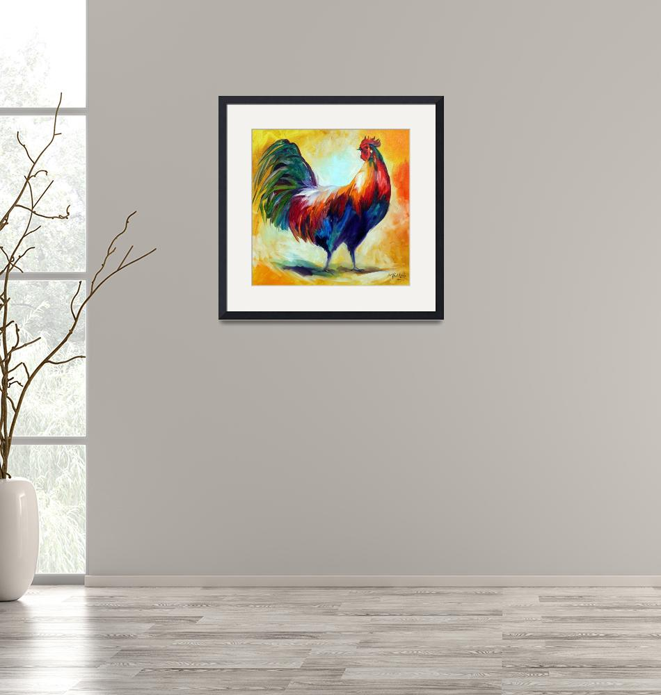 """""""RED WING ROOSTER"""" (2010) by MBaldwinFineArt2006"""
