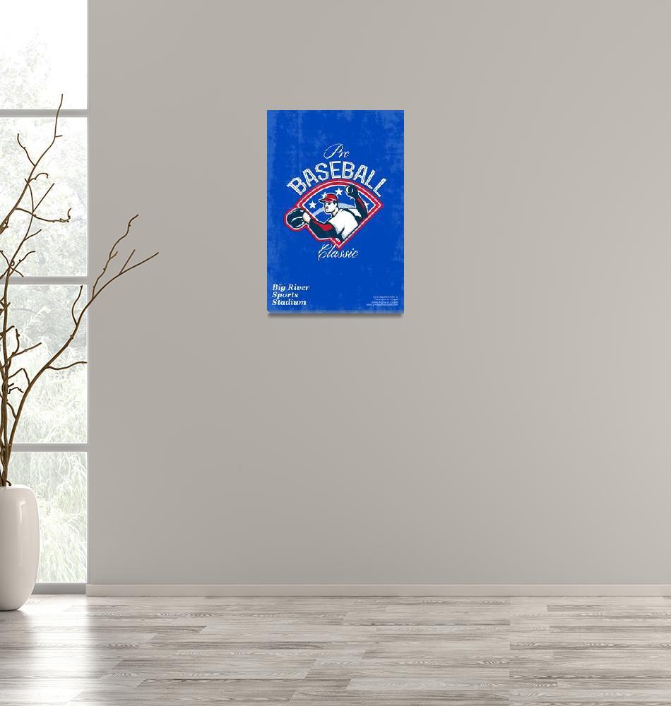 """Pro Baseball Classic Tournament Retro Poster""  (2013) by patrimonio"