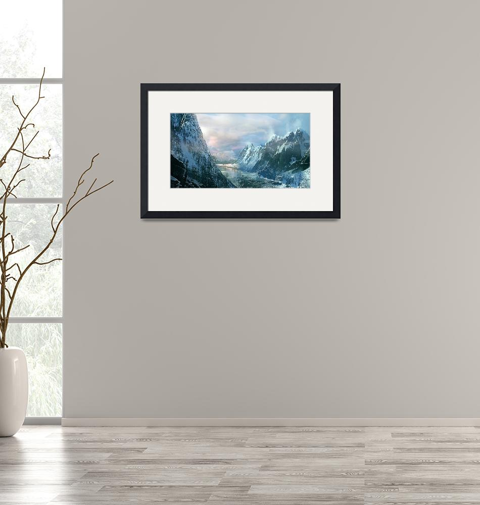 """""""Mountains at Winters Edge""""  (2013) by MattForsyth"""