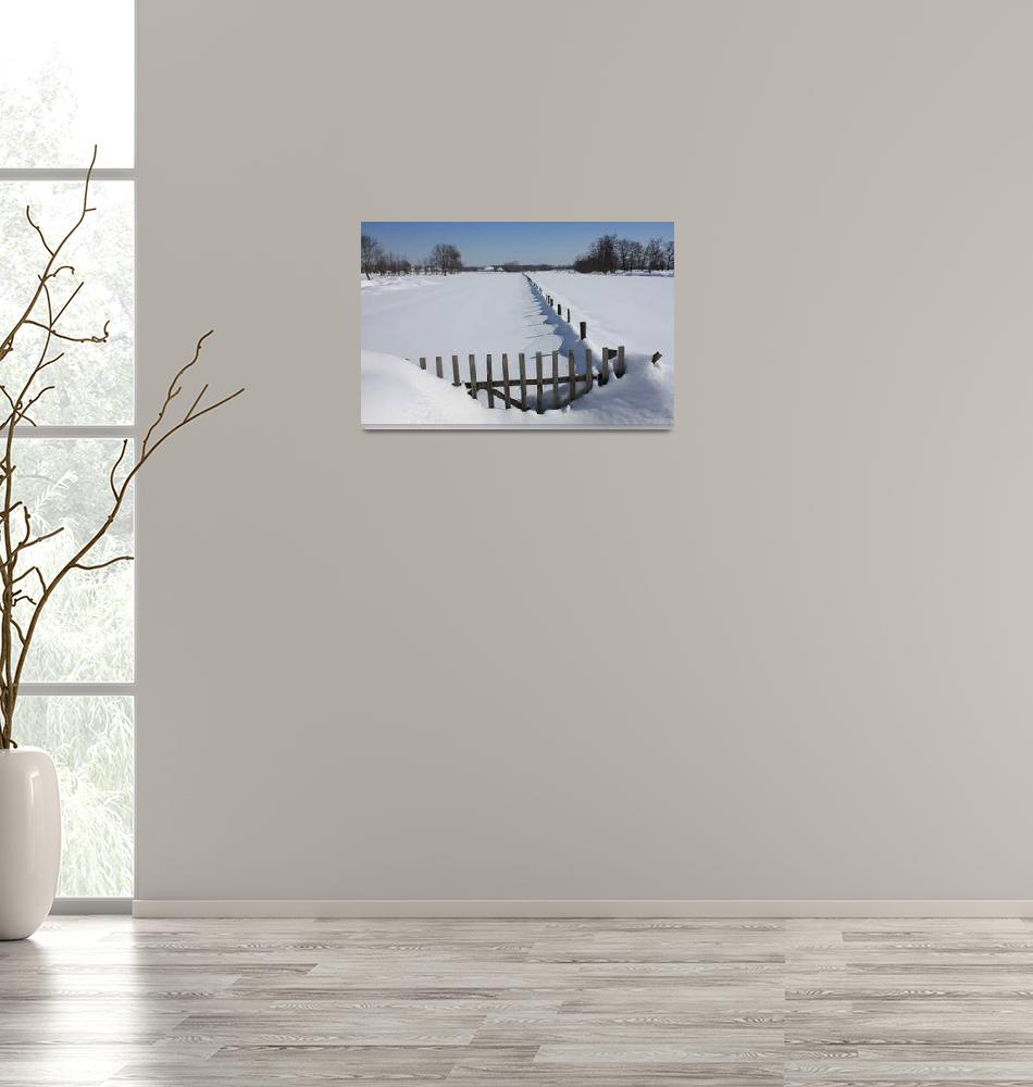 """""""Wooden Gate in the Snow""""  (2012) by gezimgeci"""