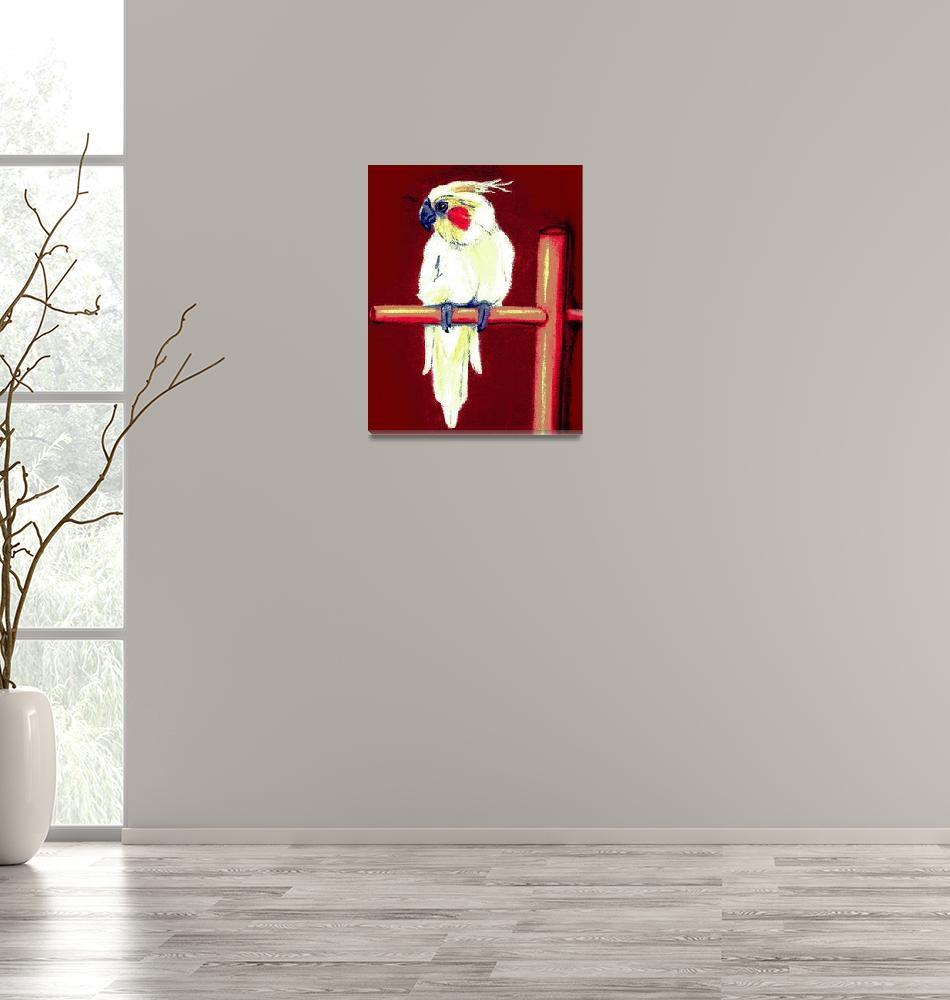 """""""Cockatiel Bird Portrait Art Print""""  by OldeTimeMercantile"""