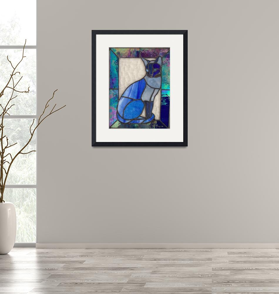 """Blue Cat""  (2012) by TaylorMadeArtUS"