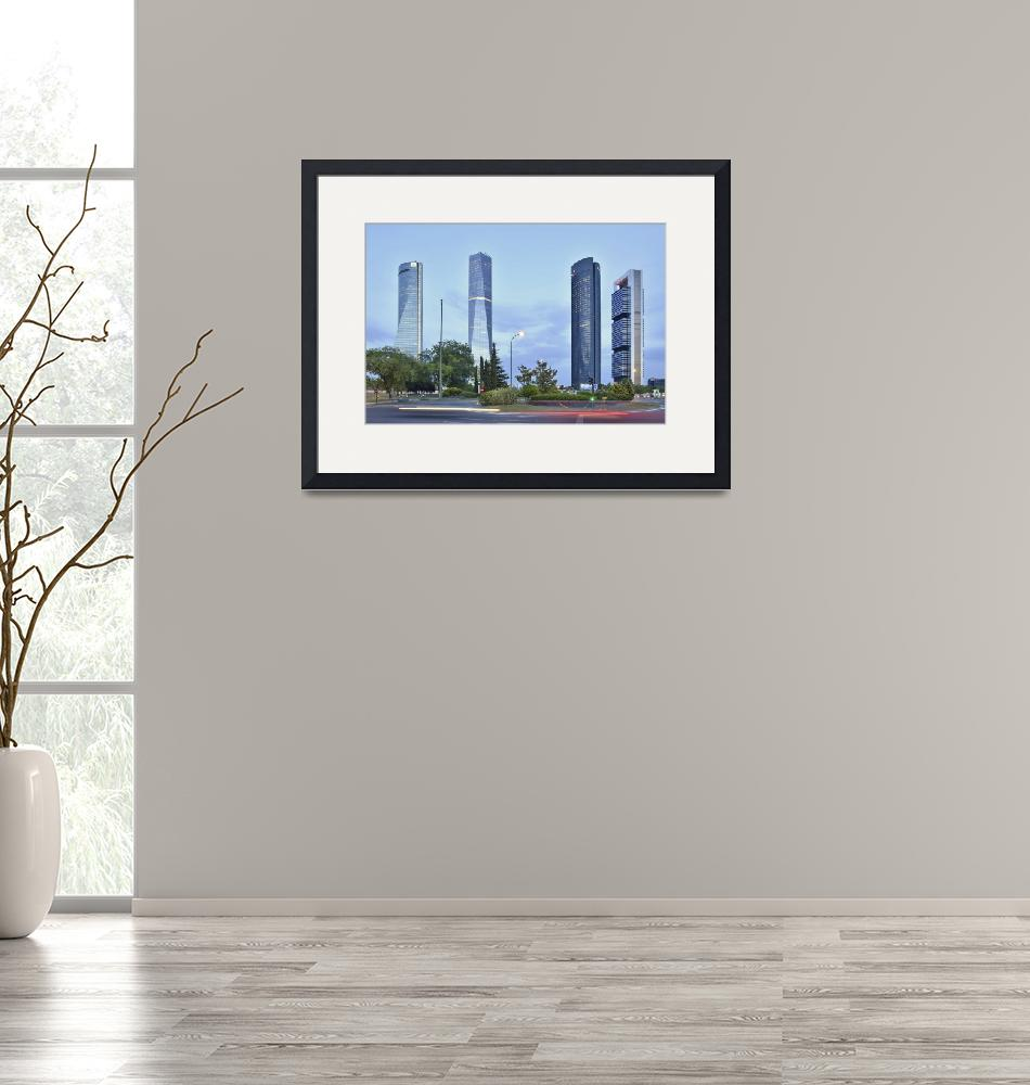 """""""Madrid Cuatro Torres""""  (2016) by mStepanPhotographer"""
