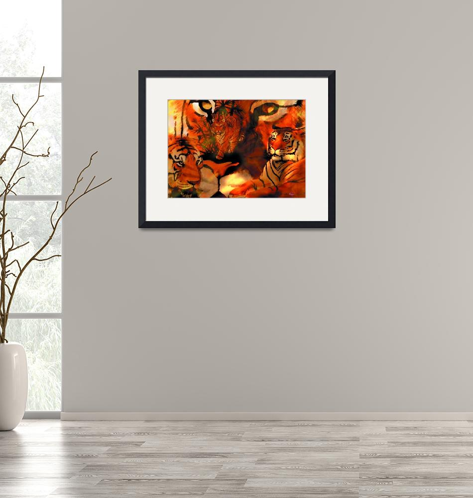 """Tiger jungle1""  (2009) by Cheshireartisan"