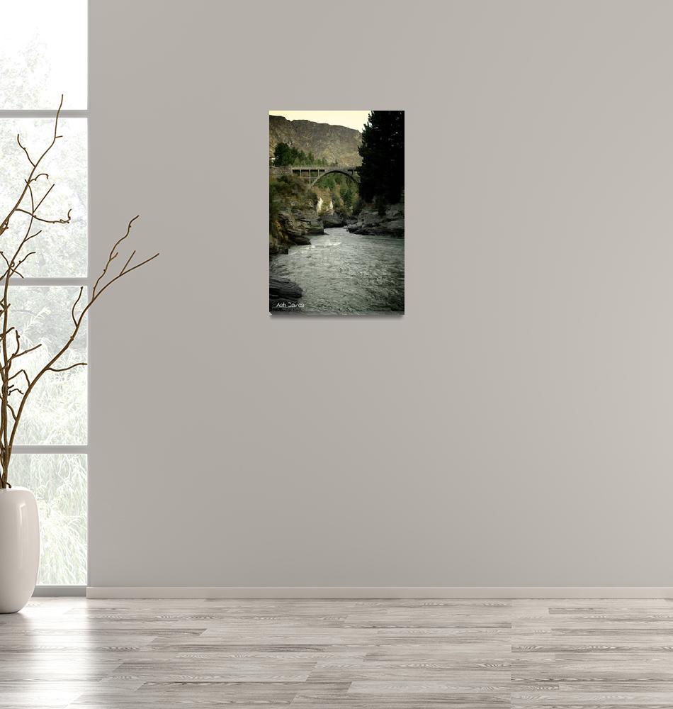 """New Zealand - Shotover River Canyons""  (2008) by AshDav"