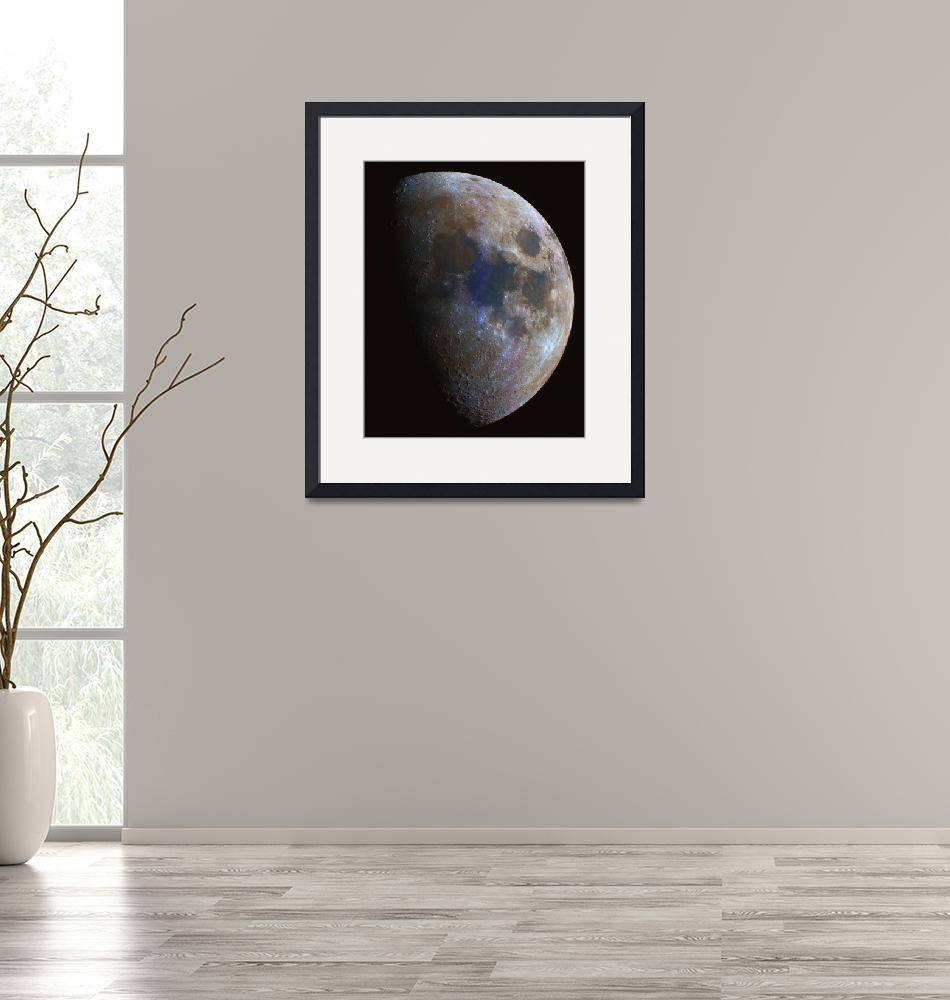 """""""Colored mosaic of the Moon"""" by Astronophilos"""