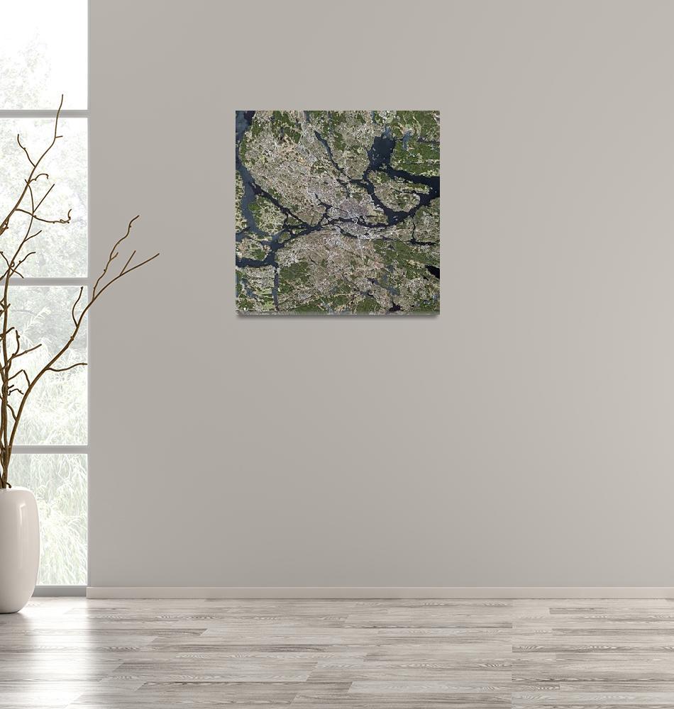 """Stockholm (Sweden) : Satellite Image""  (2004) by astriumgeo"