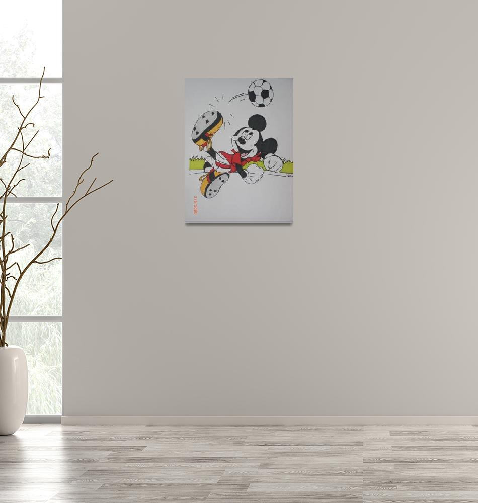 """Soccer Mickey""  (2009) by Jojoborne"
