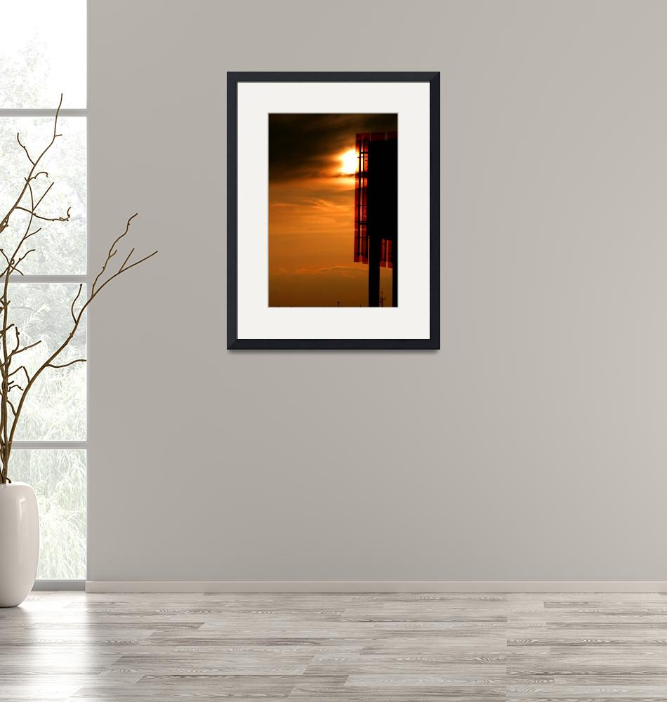 """""""Sunset Silhouette Architecture Photograph for Sale""""  (2010) by tobiphoto"""