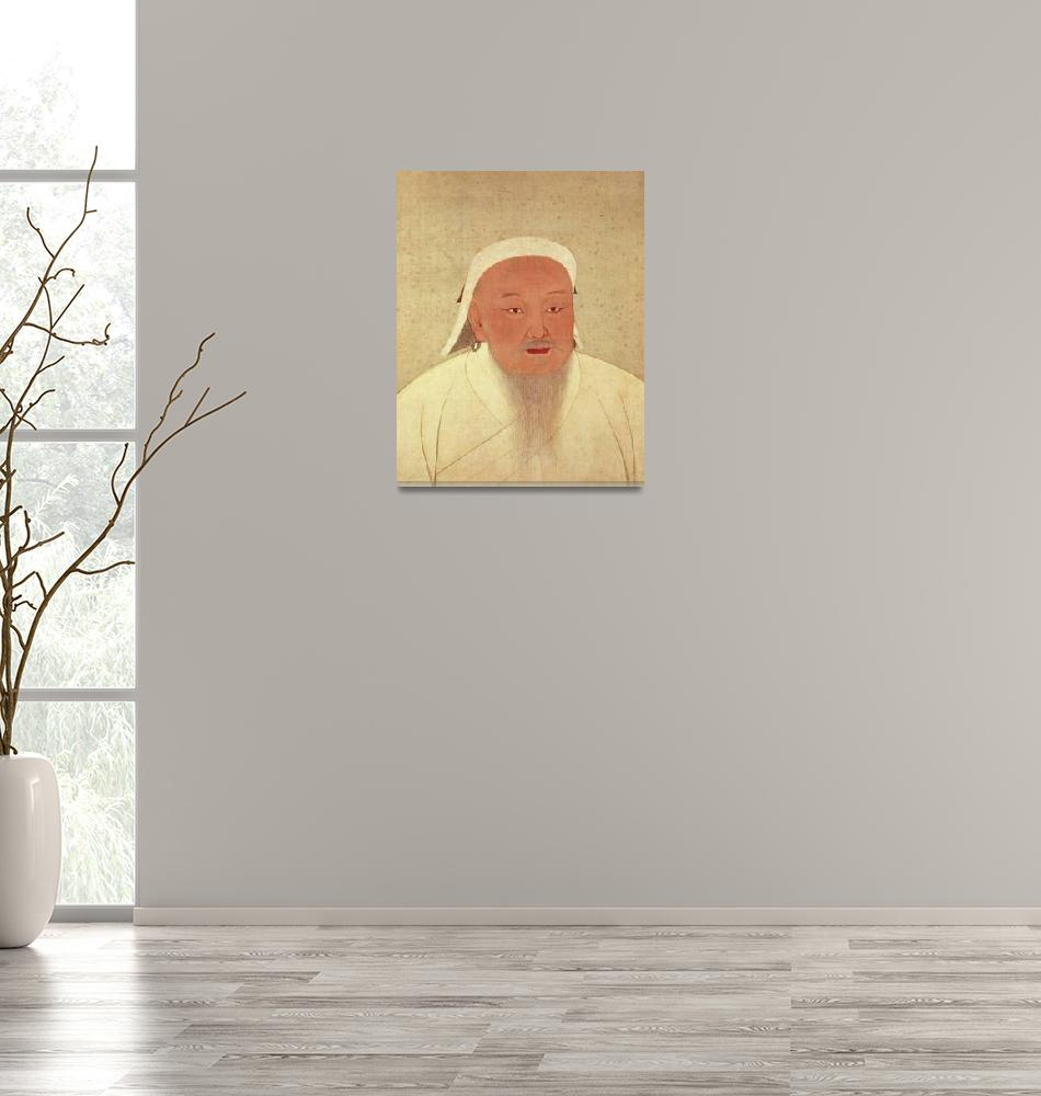 """""""Portrait of Genghis Khan""""  by fineartmasters"""
