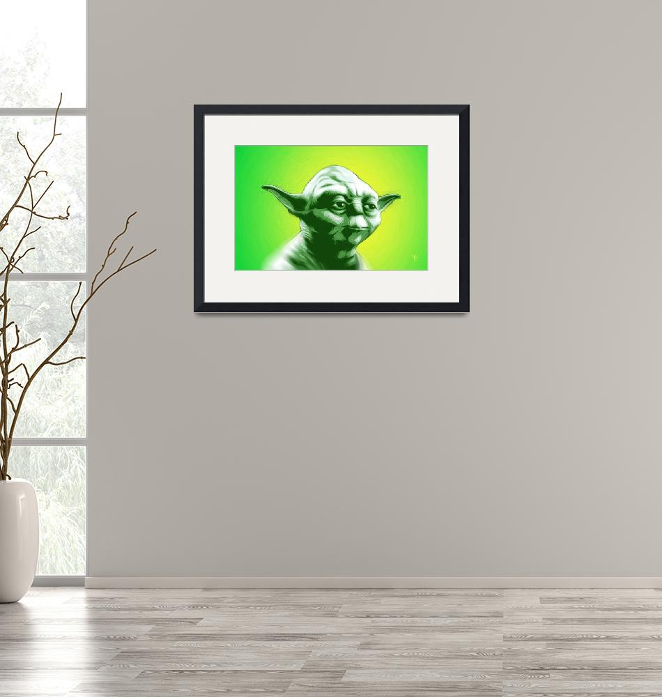 """Yoda - Star Wars - Pop Art""  (2016) by wcsmack"