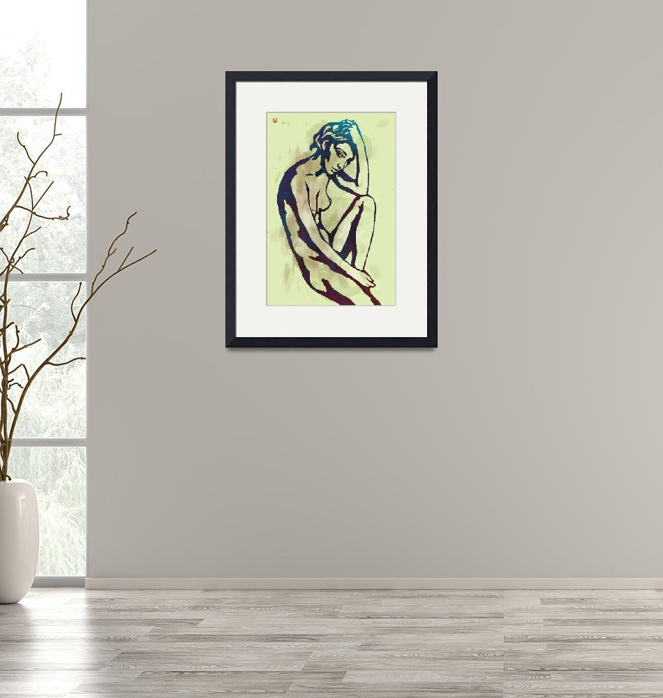 """""""Etching style nude pop art  poster""""  (2015) by visualharbour"""