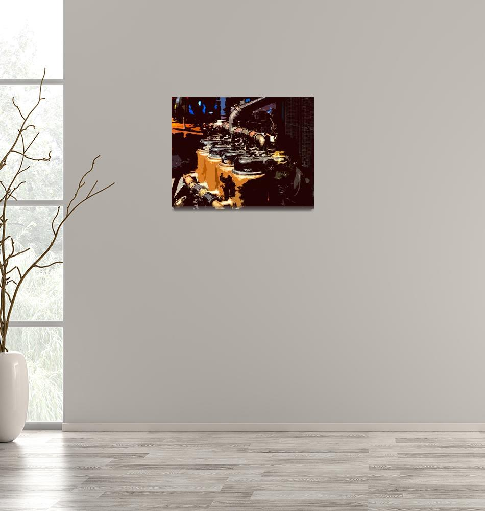 """""""Tractor Engine""""  (2008) by JamesHowePhotography"""