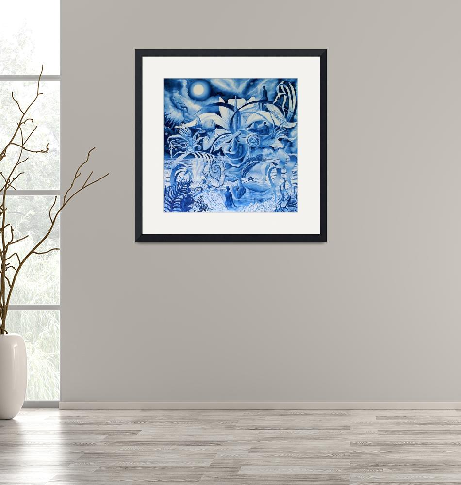 """""""Dreaming in Blue""""  (2018) by Jane_Evershed"""