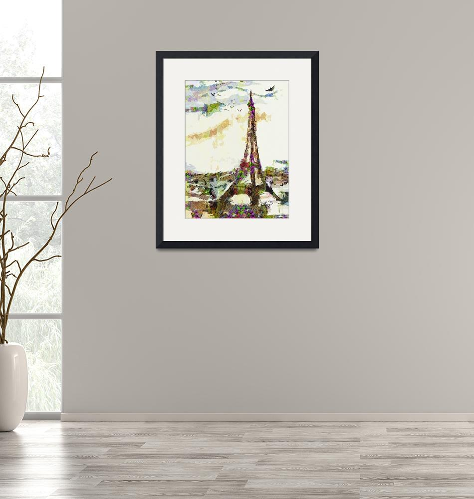 """""""Paris France In Spring Modern Decorative""""  (2014) by GinetteCallaway"""