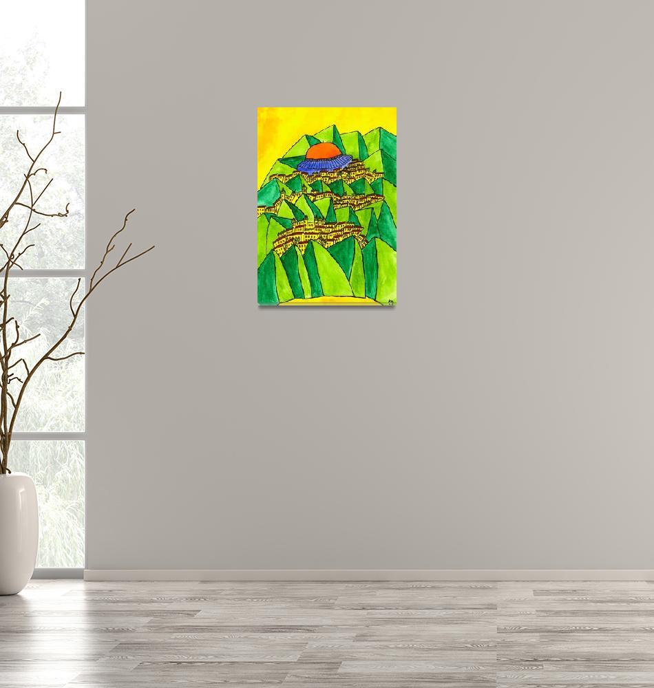 """Abstract Jerusalem 6""  (2009) by Aurelie"