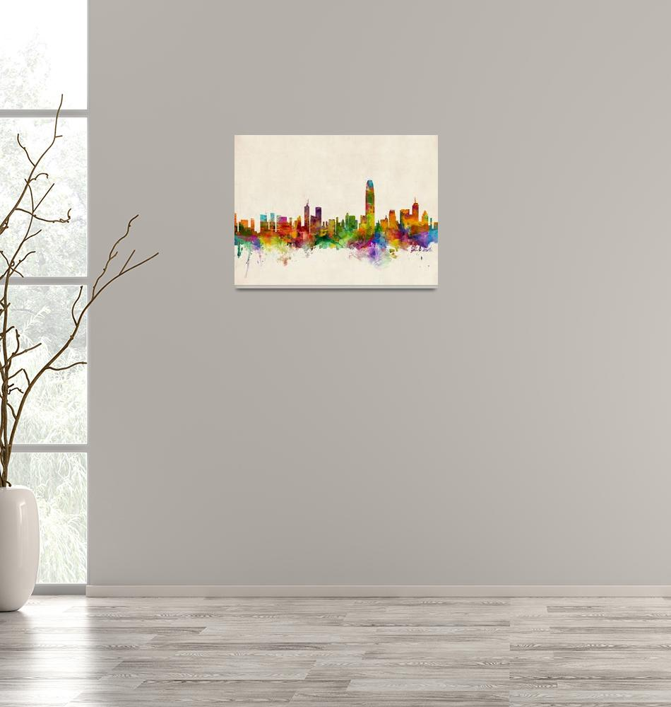 """""""Hong Kong Skyline""""  (2013) by ModernArtPrints"""