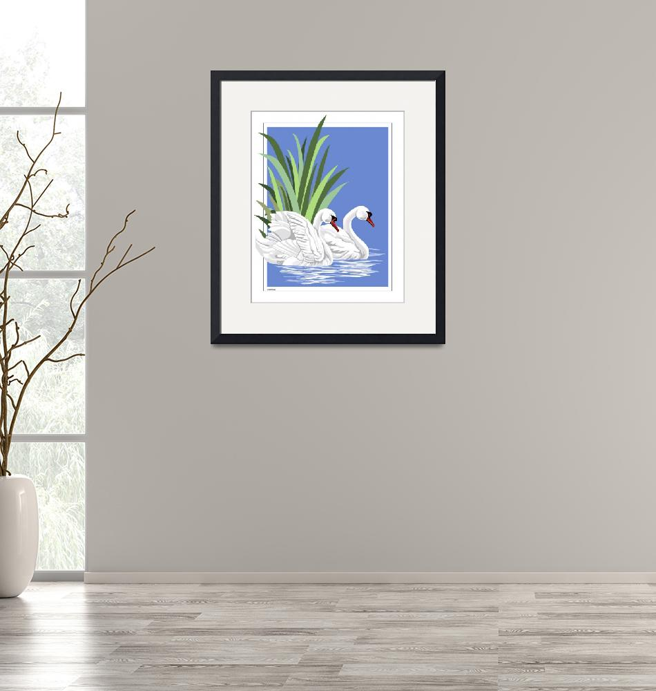 """""""White Swans""""  (2008) by waterart"""