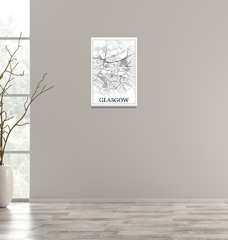 """Glasgow, Scotland, city map print.""  by dandistudio"