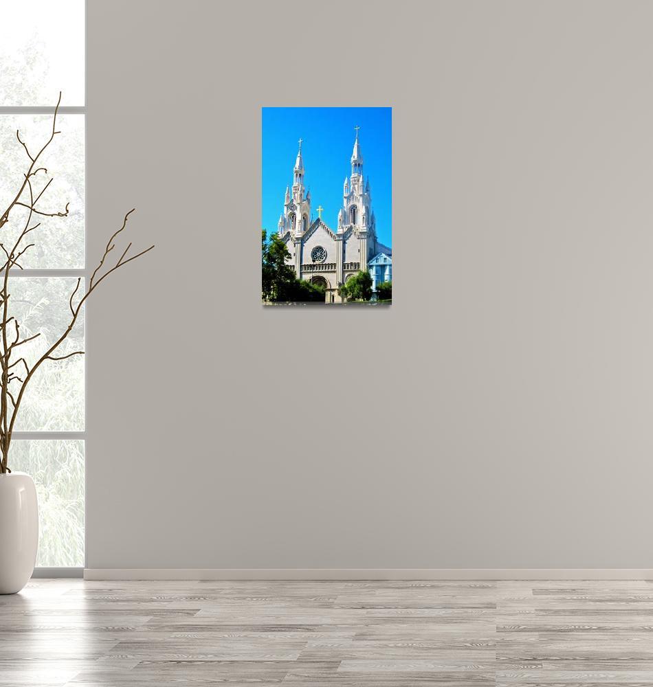 """Saints Peter and Paul Church, San Francisco""  (2012) by wcsmack"