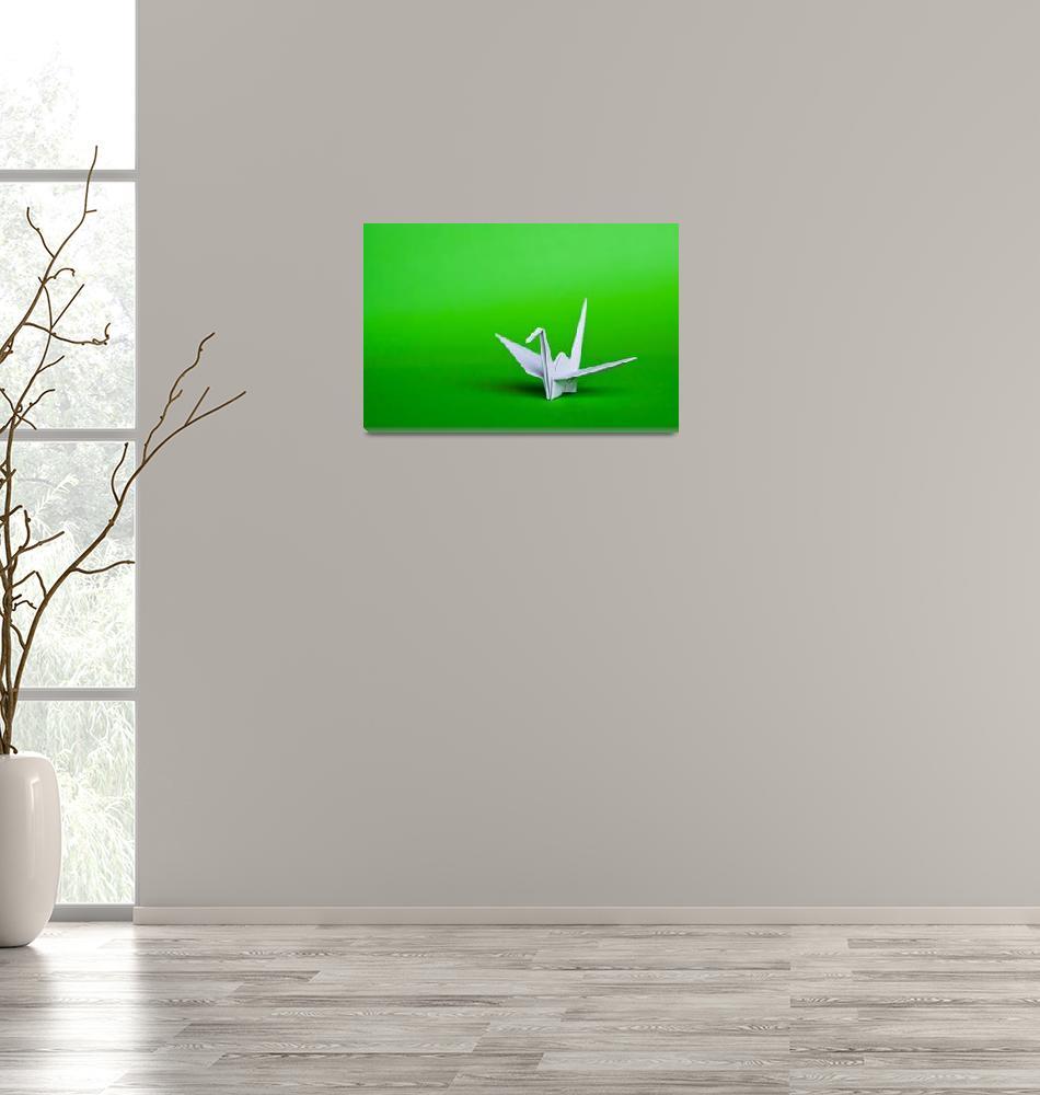 """White origami bird""  by phaif"