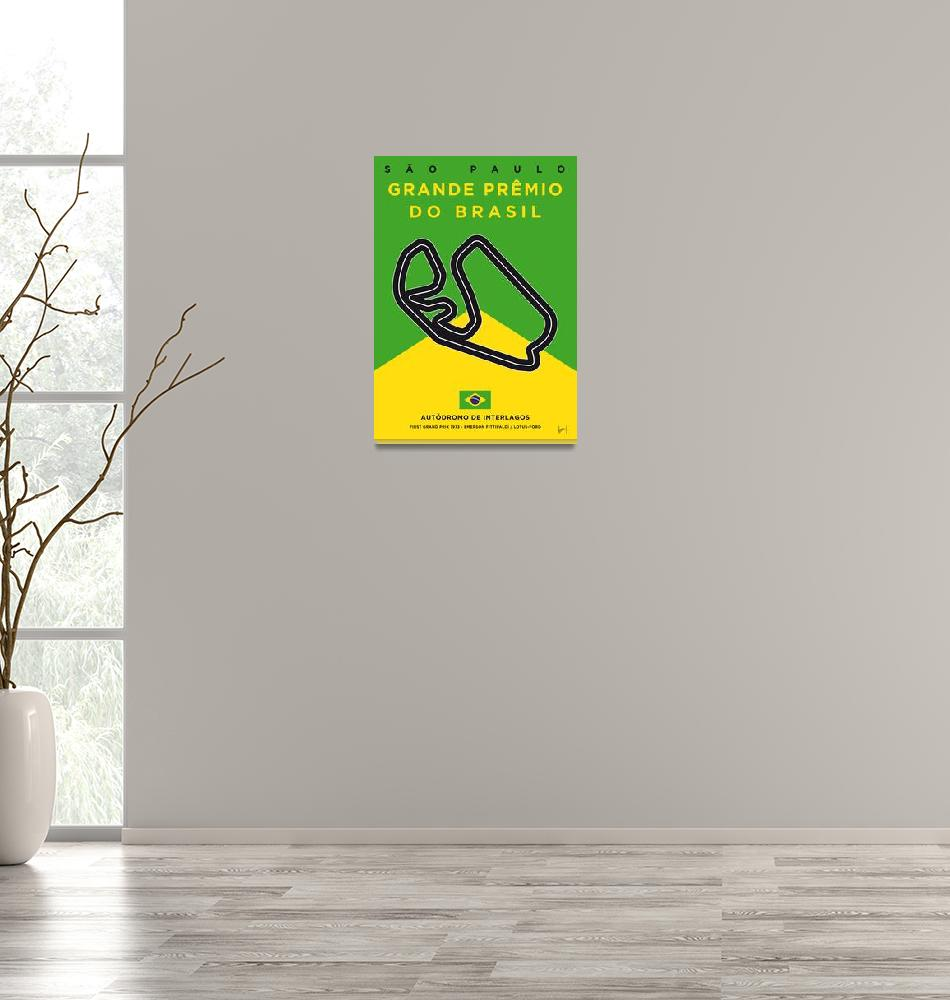 """My F1 Interlagos Track Minimal Poster""  by Chungkong"
