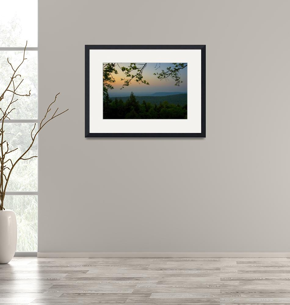"""""""Mount Nittany at Sunset""""  (2007) by williamames"""