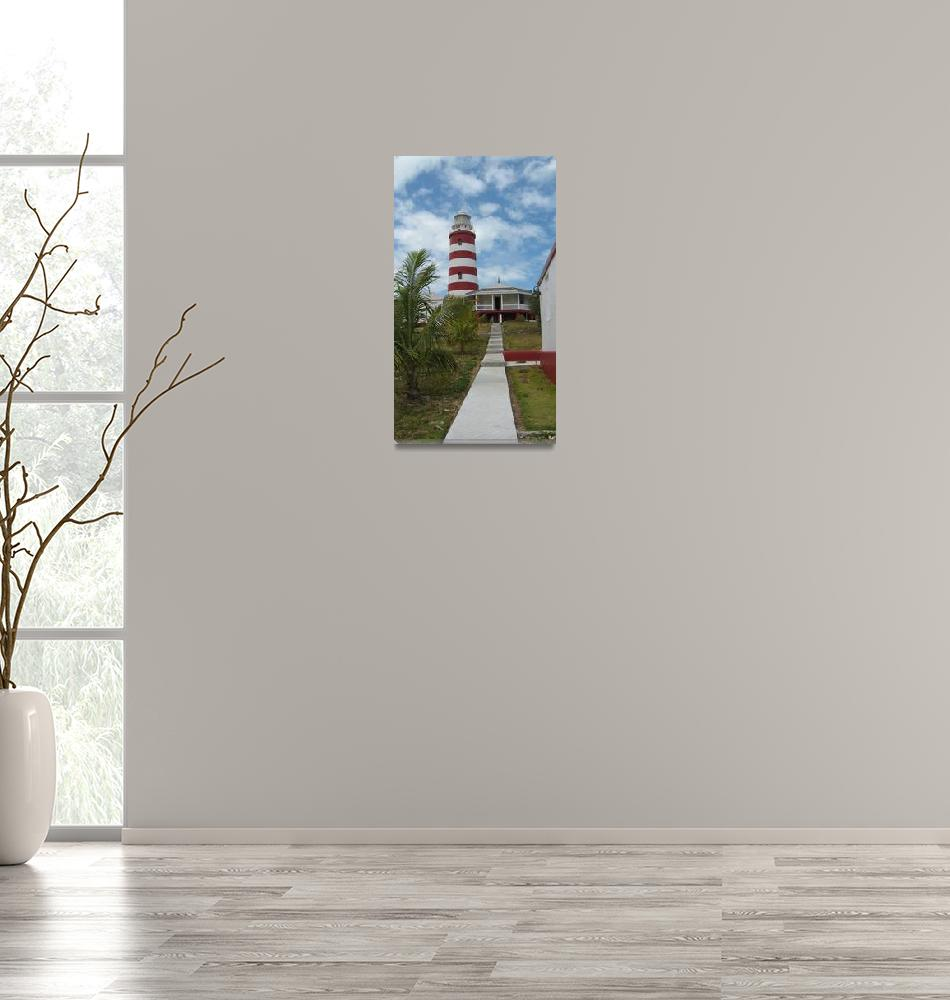 """""""Hope Town Lighthouse, Bahamas""""  (2010) by ackerman"""