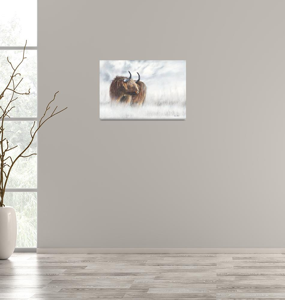 """The Highlander - Scottish Highland Cow"" (2018) by MightyFineArt"