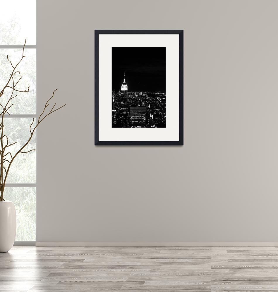 """""""The Empire State Building Black and White""""  by samuelmonson"""