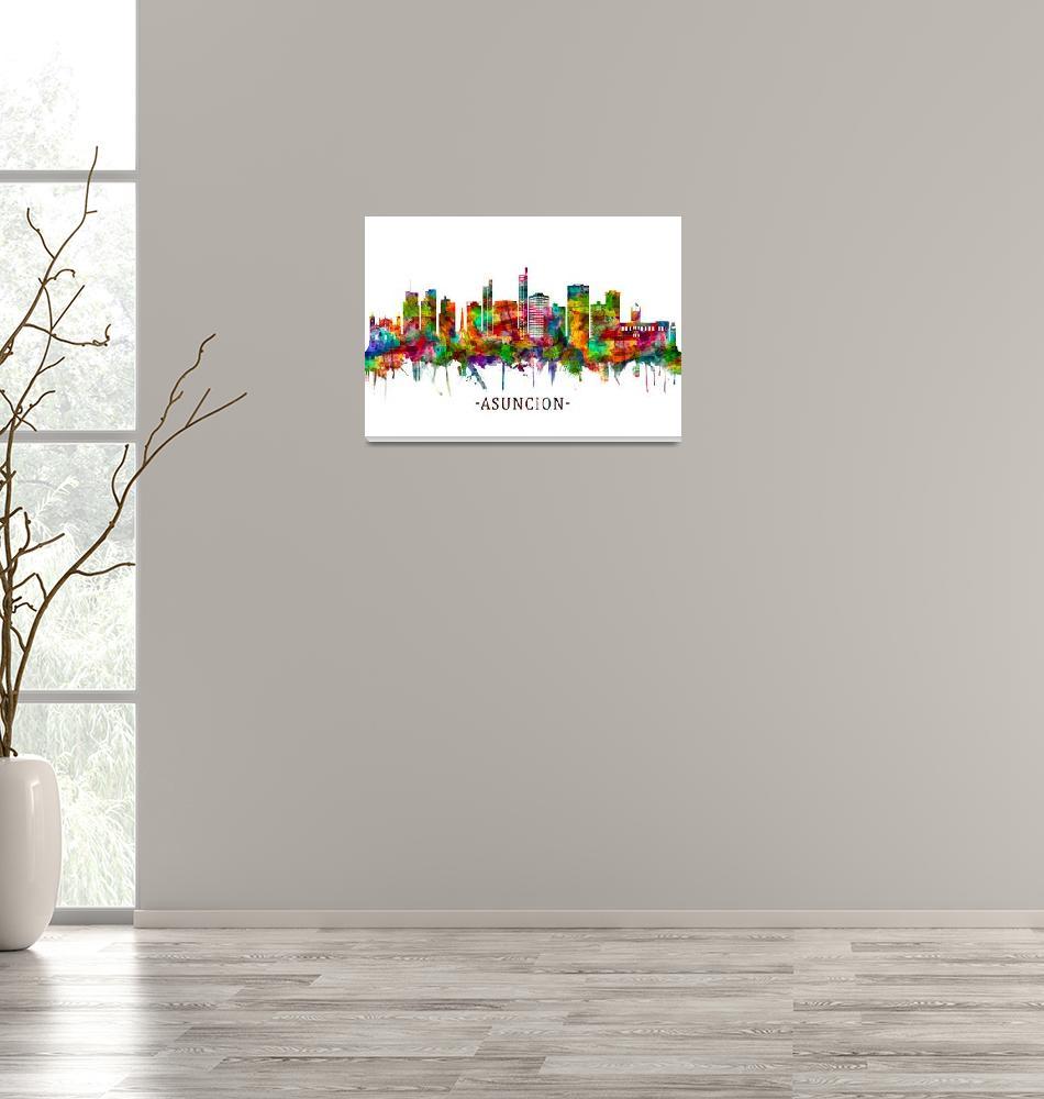 """Asuncion Paraguay Skyline""  by Towseef"