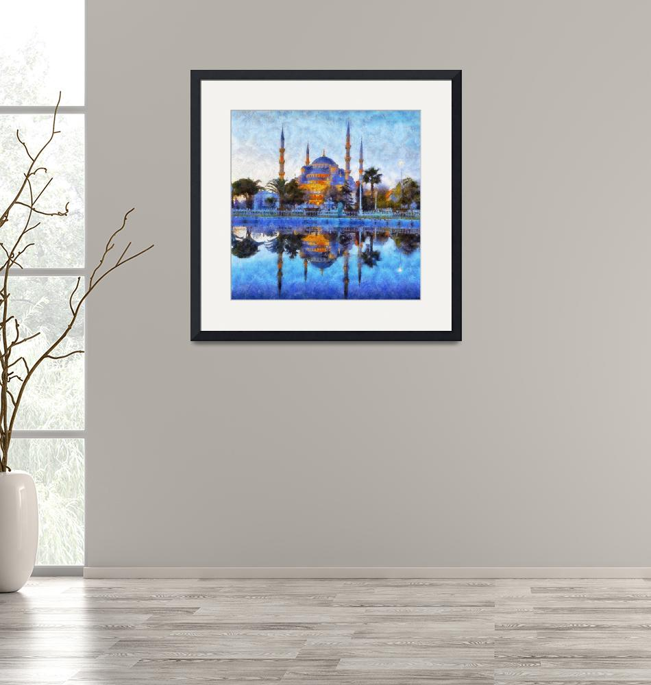 """""""Blue Mosque in Istanbul""""  (2013) by Art_by_Lilia"""