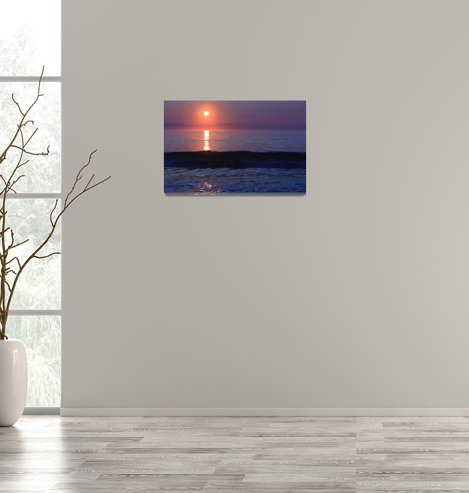 """Purple Sunrise on Nauset Beach""  (2015) by Black_White_Photos"