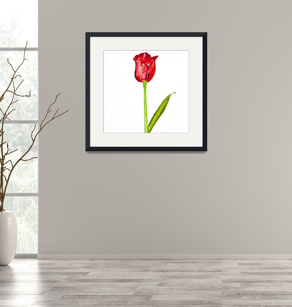"""sleek tulip""  (2009) by lorisart"