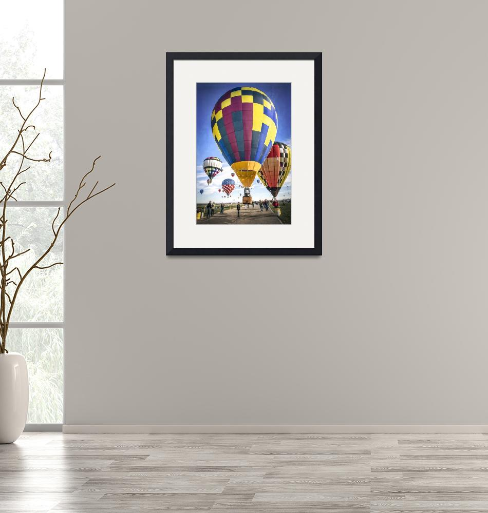 """""""Hot Air Balloons Land Together""""  (2013) by lillisphotography"""