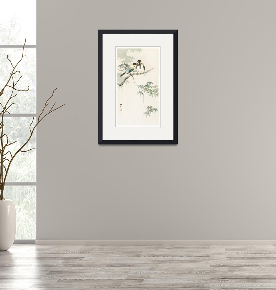 """""""Japanese Birds on Maple Branch by Ohara Koson""""  by FineArtClassics"""