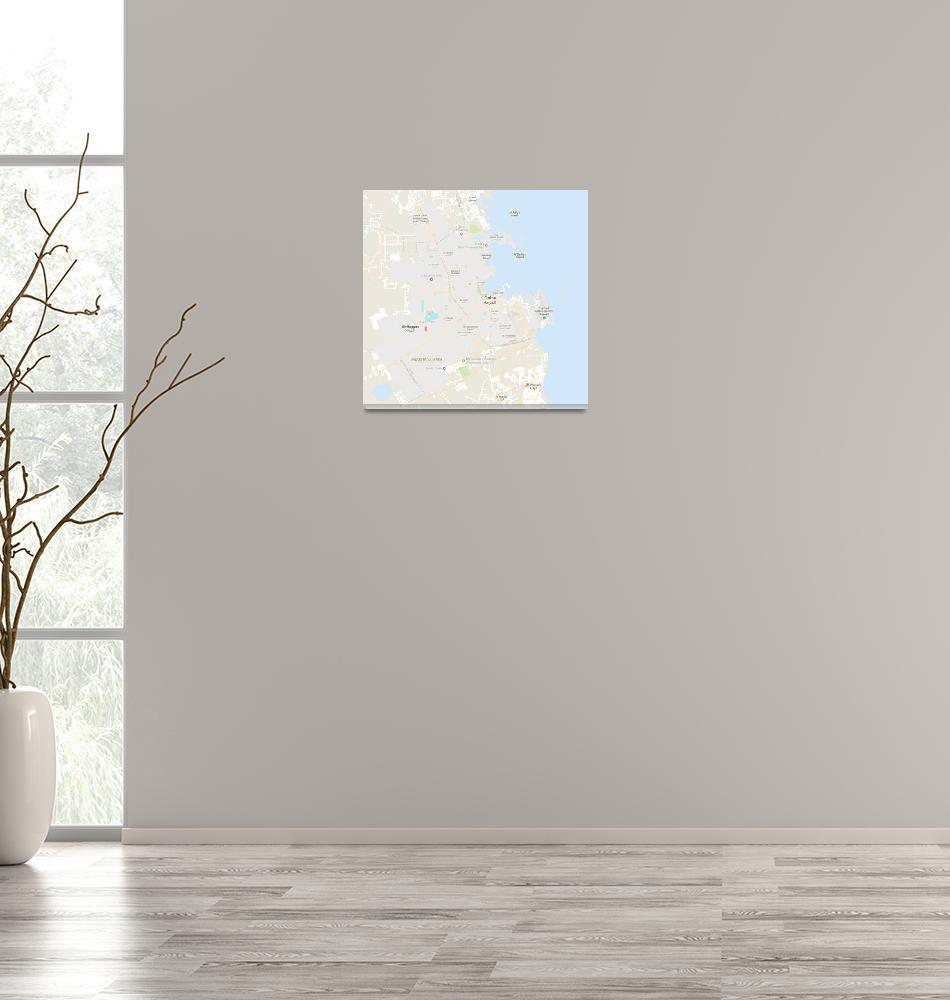 """Minimalist Modern Map of Doha, Qatar 9""  by motionage"