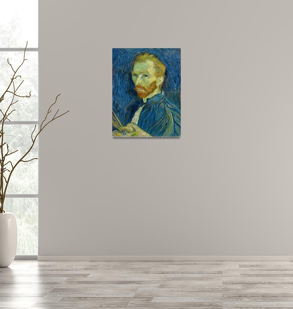 """Vincent Van Gogh Self Portrait With Palette""  by masterpieces"