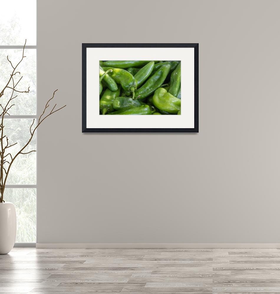 """""""Green Chile Peppers""""  (2015) by lightningman"""