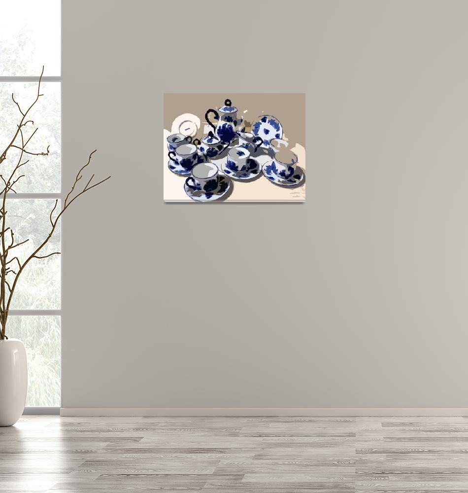 """""""Blue China""""  (2010) by whitewallgallery"""