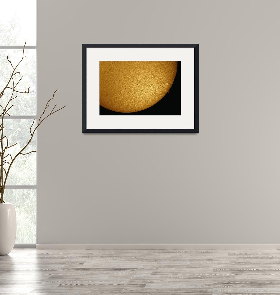 """""""Mercury Solar Transit with active sunspots and sol"""" by stocktrekimages"""