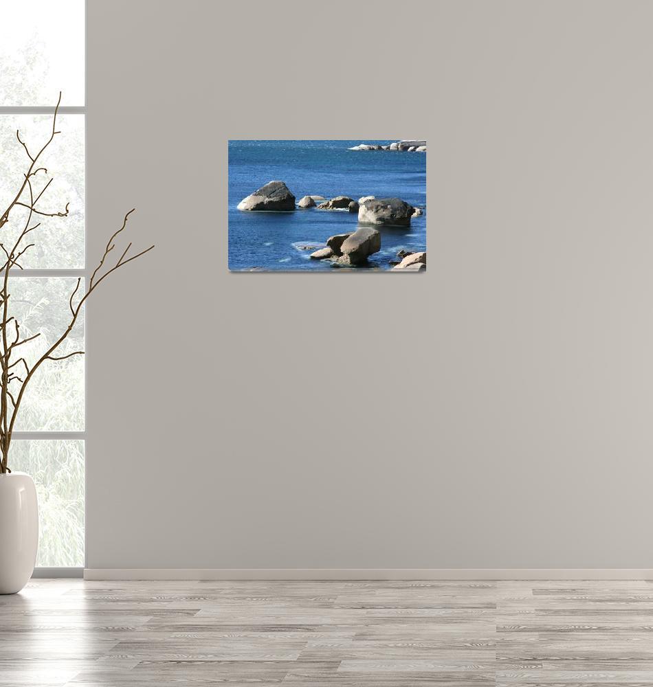 """Rocks in the ocean""  (2009) by CarrieWaters"