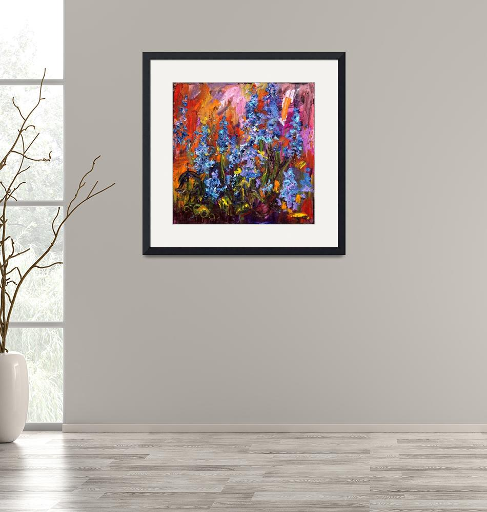 """""""Bluebells Impressionist Flower Oil Painting""""  (2011) by GinetteCallaway"""