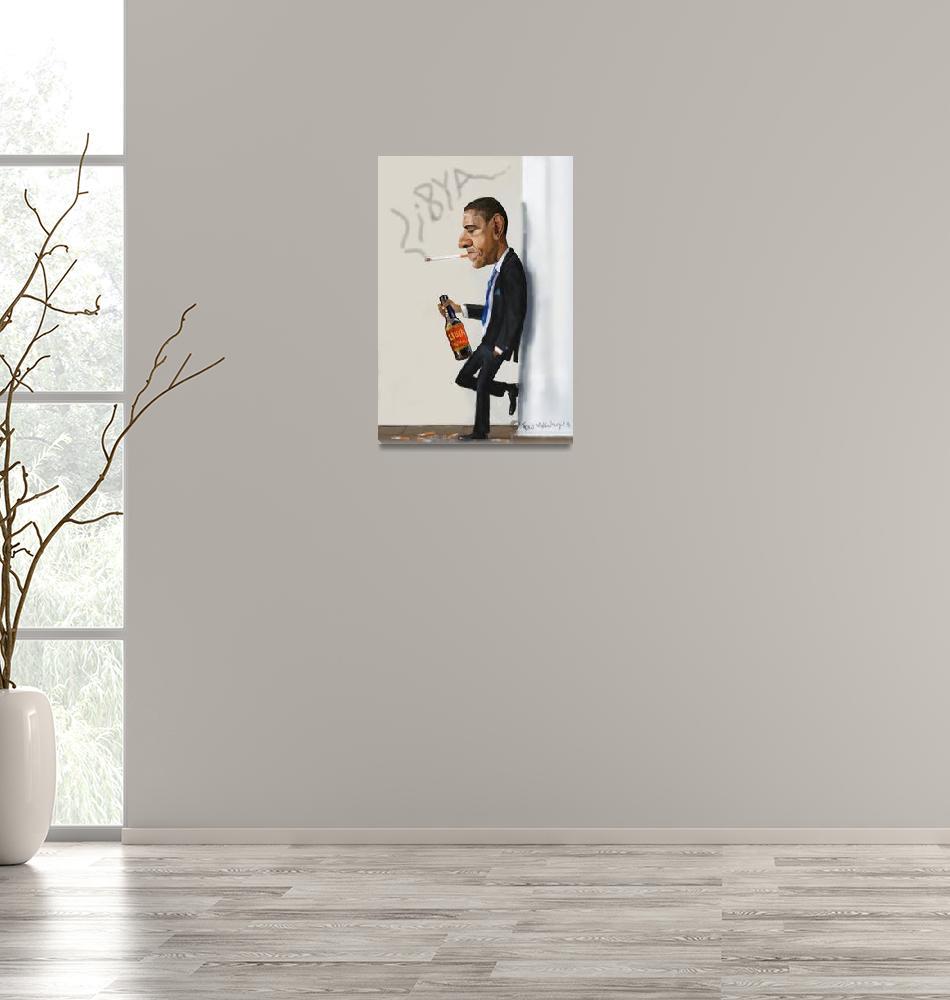 """""""Obama""""  (2011) by fredmakubuya"""