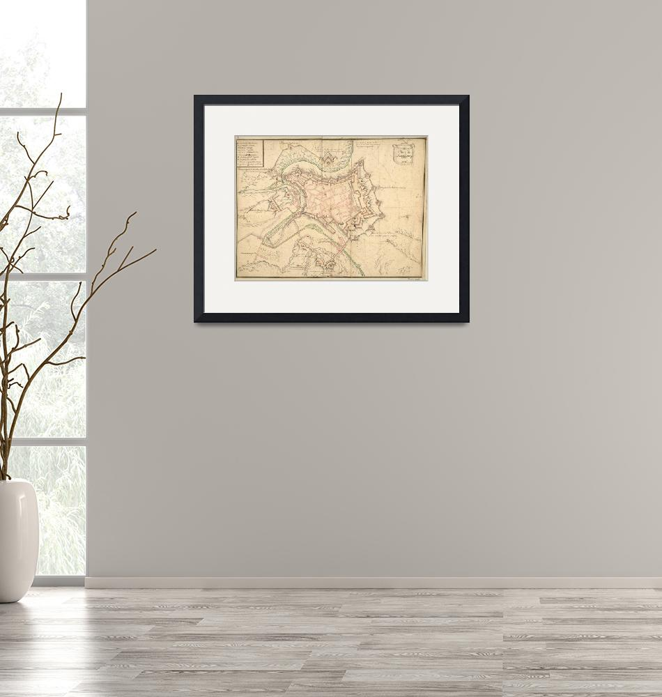 """""""Vintage Map of Luxembourg (1686)""""  by Alleycatshirts"""
