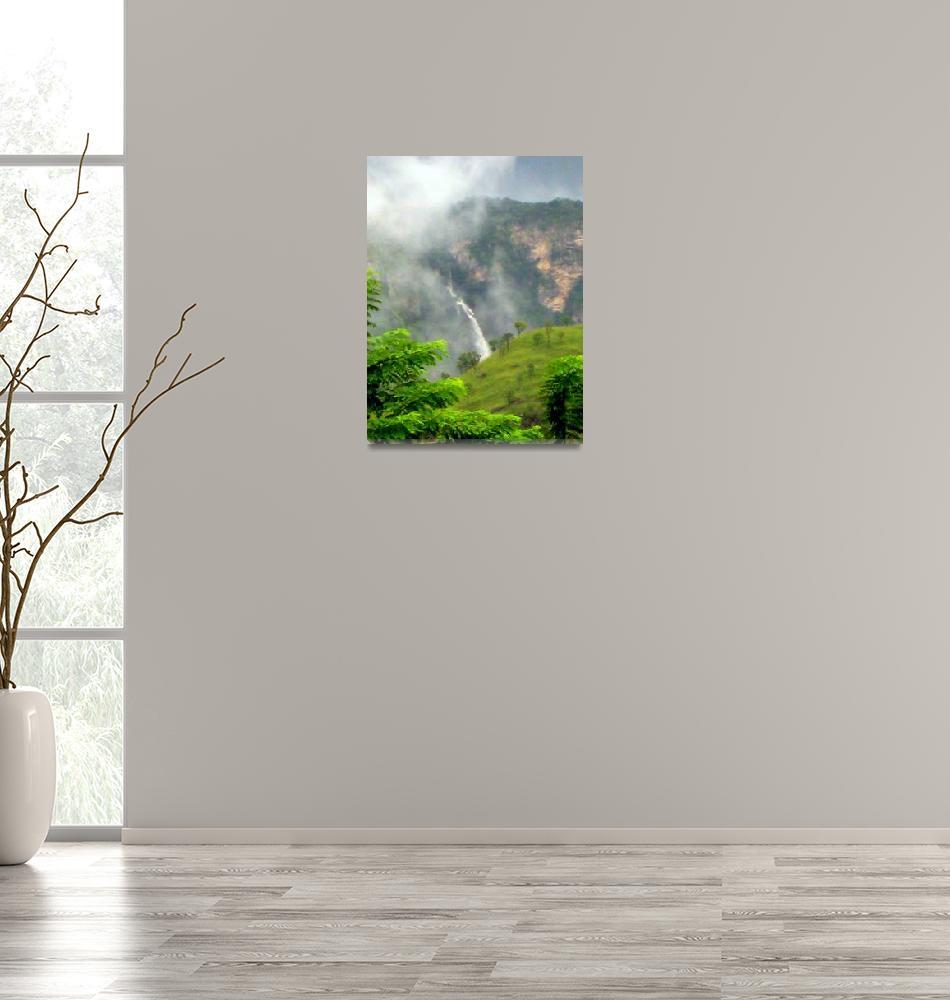 """Waterfall in the Mist""  (2008) by cybergypsie"