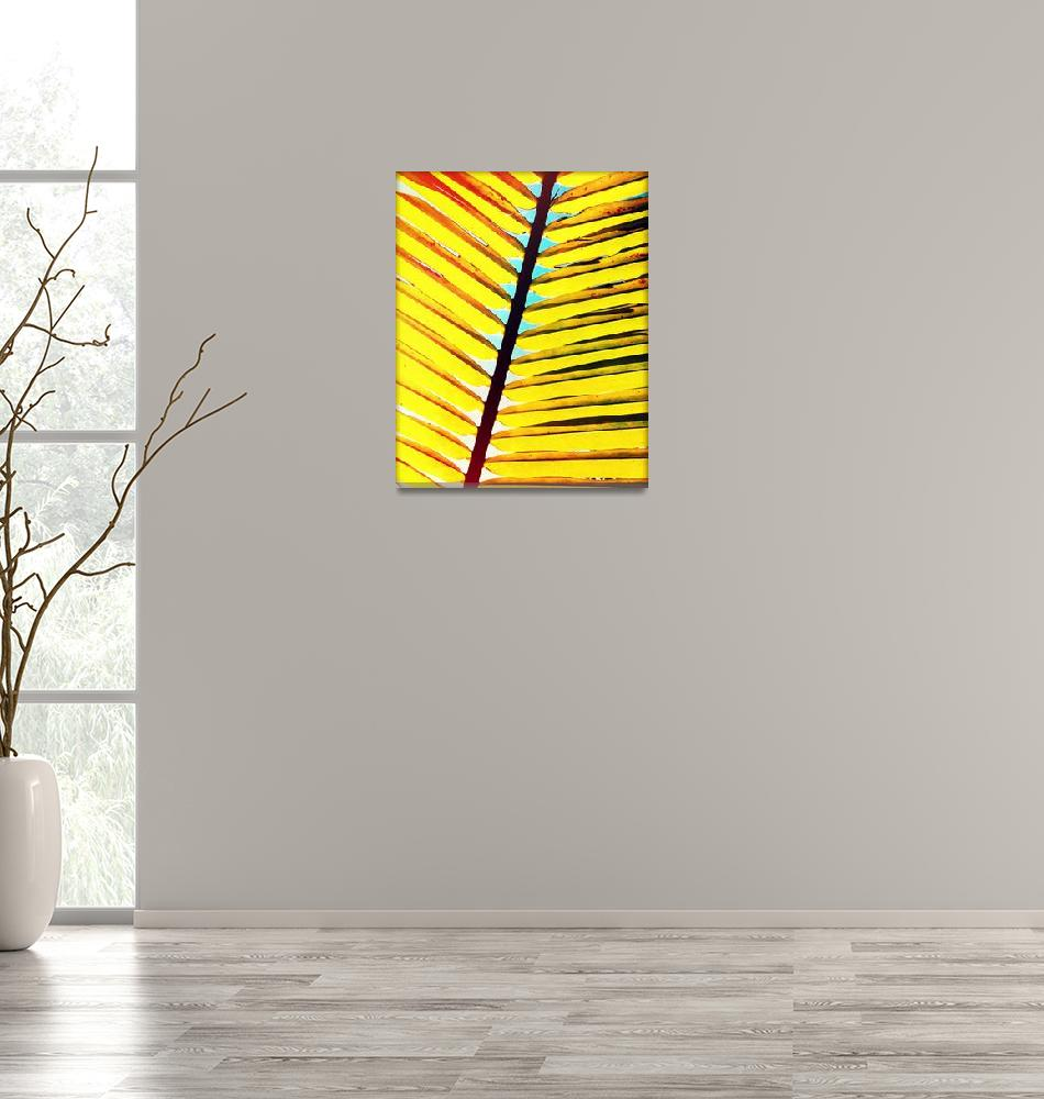 """Surroundings - Palm Leaf""  (2014) by ChrisAndruskiewicz"