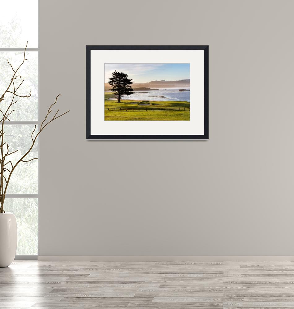 """""""Pebble Beach Golf Course, 18th Hole""""  (2019) by centioliphotography"""